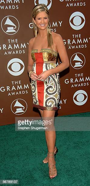 Television personality Nancy O'Dell arrives at the 48th Annual Grammy Awards at the Staples Center on February 8 2006 in Los Angeles California