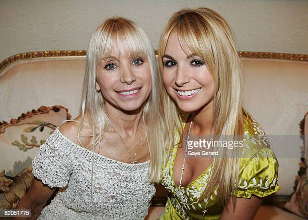 Television personality Natalie Michaels with her mother Effie during the official launch of her new book `The Menagerie' at Elewatan Estate on July...