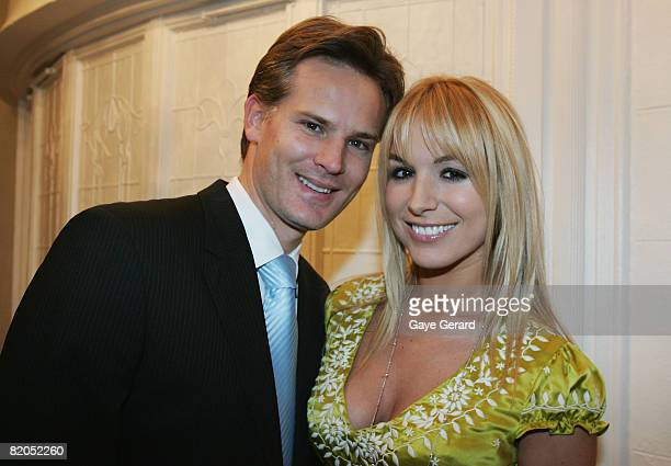 Television personality Natalie Michaels with her partner Marcus during the official launch of her new book `The Menagerie' at Elewatan Estate on July...