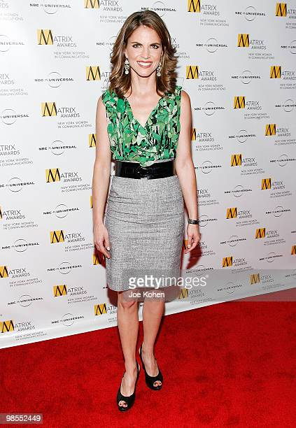 Television personality Natalie Morales attends the 2010 Matrix Awards presented by New York Women in Communications at The Waldorf=Astoria on April...