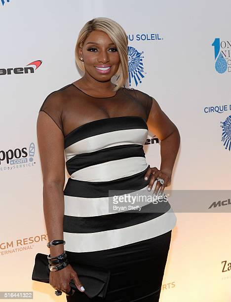 Television personality NeNe Leakes attends the fourth annual 'One Night for ONE DROP' imagined by Cirque du Soleil a show that raises awareness and...