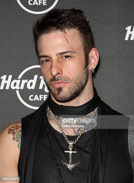 Television personality Nick Hawk attends Hard Rock Cafe Las Vegas at Hard Rock Hotel's 25th anniversary celebration on October 10 2015 in Las Vegas...