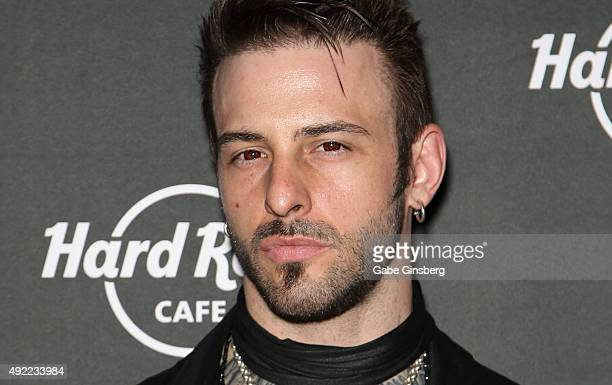 Television personality Nick Hawk eyes detail attends Hard Rock Cafe Las Vegas at Hard Rock Hotel's 25th anniversary celebration on October 10 2015 in...