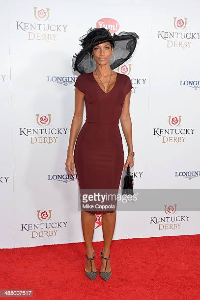 Television personality Nicole Murphy attends 140th Kentucky Derby at Churchill Downs on May 3 2014 in Louisville Kentucky