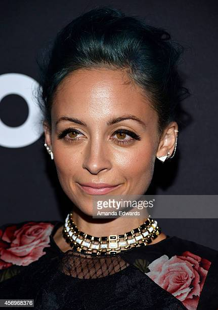 Television personality Nicole Richie arrives at the AOL Fall Programming launch party at Palihouse Holloway on October 9 2014 in West Hollywood...