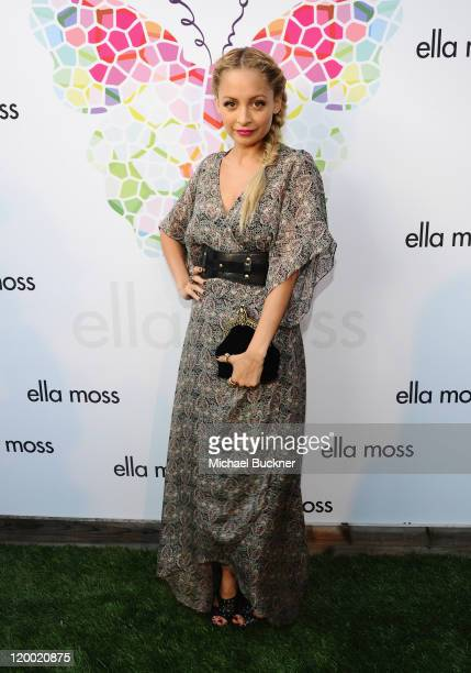 Television personality Nicole Richie arrives at the Ella Moss 10 Year Anniversary Celebration at Eveleigh on July 28 2011 in West Hollywood California