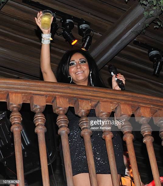 Television Personality Nicole 'Snooki' Polizzi attends Newyearsevecom's After Party hosted by Snooki at Madame Tussauds on December 31 2010 in New...