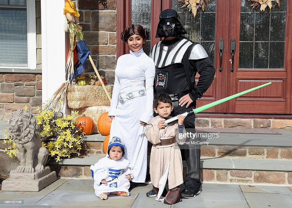 Television personality Nicole 'Snooki' Polizzi, Jionni Lavalle and their family dress up as 'Star Wars' characters for Halloween on October 31, 2015 at a private residence in New Jersey.