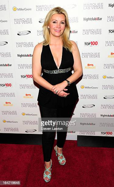 Television personality Nicole Taffer arrives at a Top 100 Platinum Party at the Marquee Nightclub at The Cosmopolitan of Las Vegas on March 20 2013...