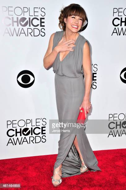 Television personality Nikki DeLoach arrives at the 40th Annual People's Choice Awards at Nokia Theatre LA Live on January 8 2014 in Los Angeles...