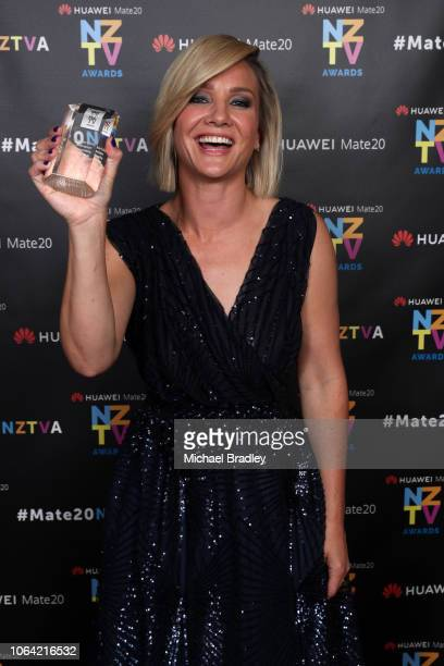 Television Personality of the Year winner TVNZ Breakfast presenter Hayley Holt at the 2018 Huawei Mate20 New Zealand Television Awards at the Civic...