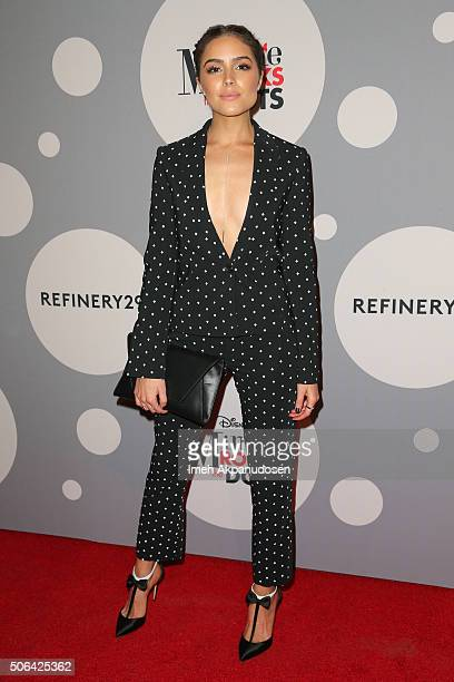 Television personality Olivia Culpo attends the Minnie Mouse 'Rocks The Dots' art and fashion exhibit on January 22 2016 in Los Angeles California