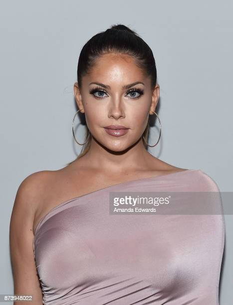 Television personality Olivia Pierson arrives at NBCUniversal's Press Junket at Beauty Essex on November 13 2017 in Los Angeles California
