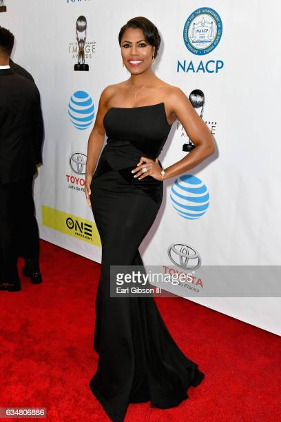 Television personality Omarosa Manigault attends the 48th NAACP Image Awards at Pasadena Civic Auditorium on February 11 2017 in Pasadena California