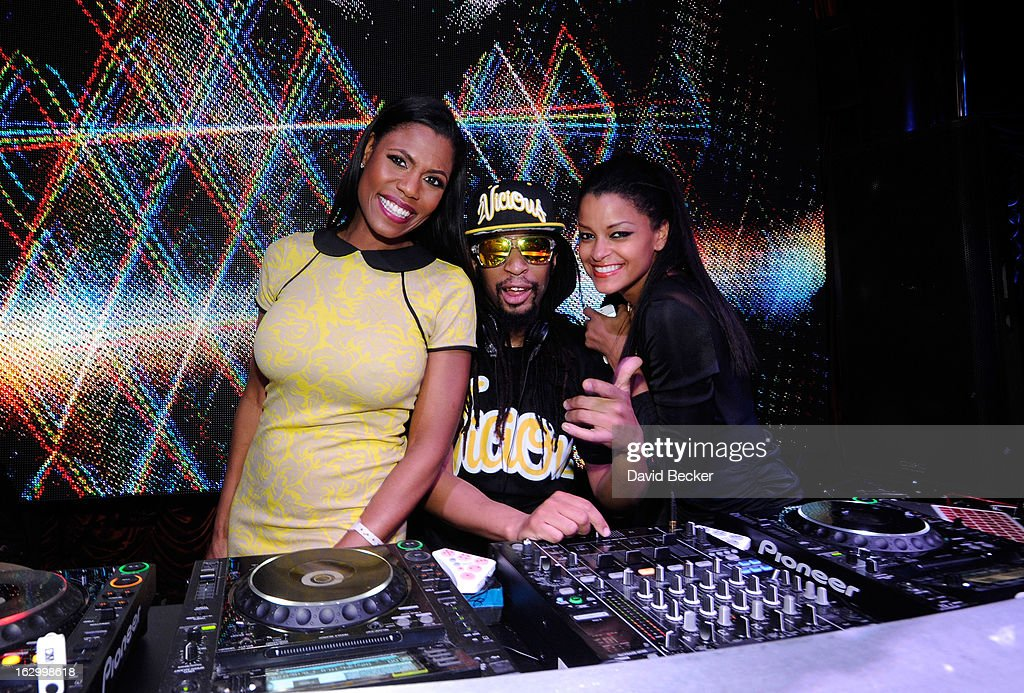 Television personality Omarosa Manigault, recording artist Lil' Jon and television personality Claudia Jordan appear at the Surrender Nightclub at Encore Las Vegas to celebrate the season premiere of 'All-Star Celebrity Apprentice' on March 2, 2013 in Las Vegas, Nevada.