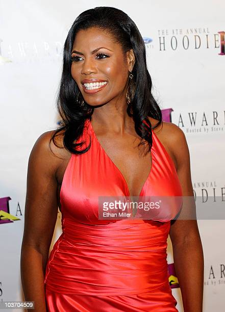 Television personality Omarosa ManigaultStallworth arrives at the eighth annual Ford Hoodie Awards at the Mandalay Bay Events Center August 28 2010...