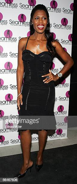 Television personality Omarosa ManigaultStallworth arrives at the grand opening of the Seamless Adult Ultra Lounge early December 18 2005 in Las...