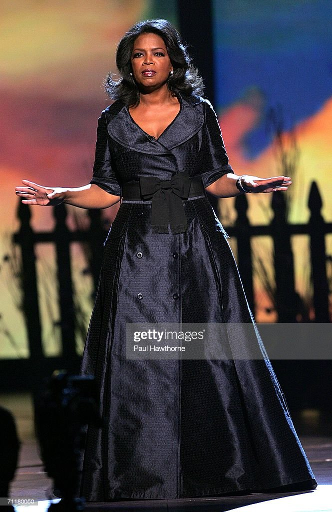 Television personality Oprah Winfrey appears onstage at the 60th Annual Tony Awards at Radio City Music Hall June 11, 2006 in New York City.