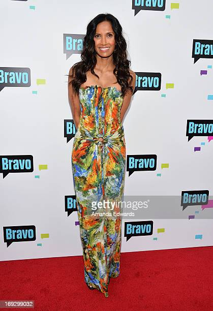 Television personality Padma Lakshmi arrives at the Bravo Media's 2013 For Your Consideration Emmy Event at the Leonard H Goldenson Theatre on May 22...