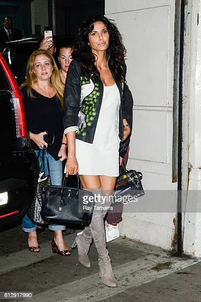 Television personality Padma Lakshmi enters the AOL Studios on October 05 2016 in New York City
