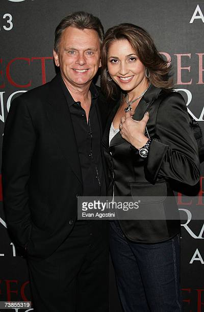 Television personality Pat Sajak and wife Lesley Brown Sajak attend the Perfect Stranger premiere at the Ziegfeld Theatre on April 10 2007 in New...