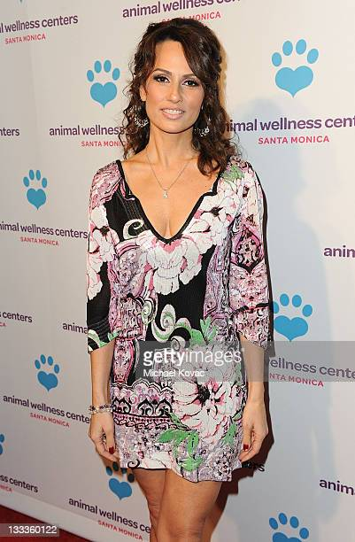 Television personality Patricia Kara arrives at the Animal Wellness Center Grand Opening Launch Party at Animal Wellness Center on February 11 2010...