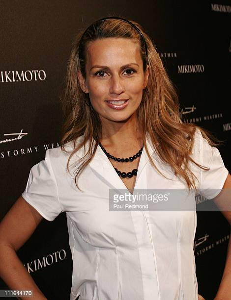 Television personality Patricia Kara attends Stormy Weather Jewelry Launch at the Mikimoto store with a reception in the penthouse suite at the...