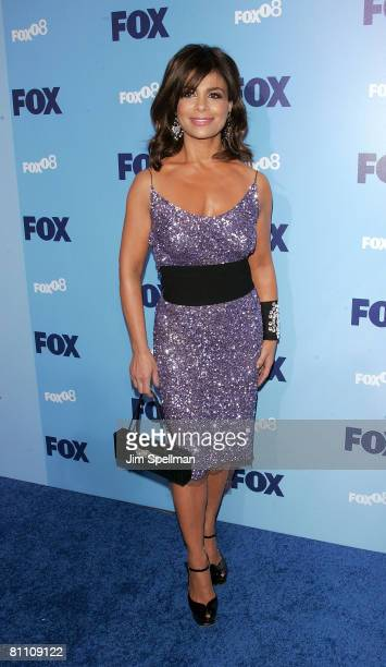 Television personality Paula Abdul arrives at the 2008 FOX UpFront at Wollman Rink Central Park on May 15 2008 in New York City