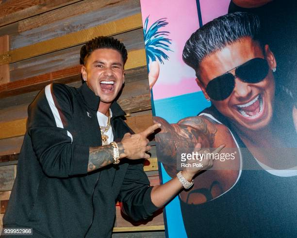 Television personality Pauly DelVecchio attends the Jersey Shore Family Vacation Premiere Party at Hyde Sunset Kitchen Cocktails on March 29 2018 in...