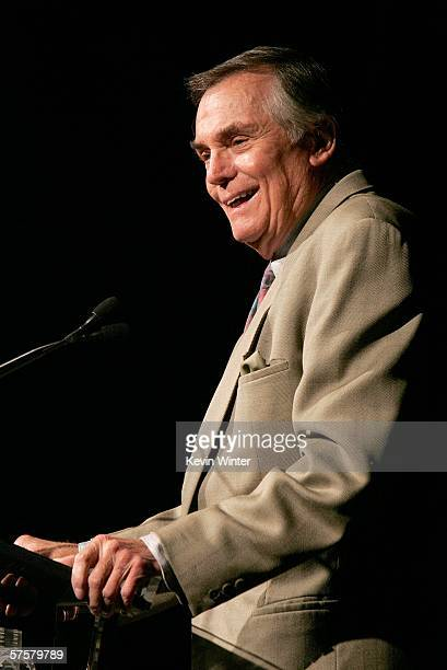 Television personality Peter Marshall speaks on stage during the AFI Associates luncheon honoring Hollywood's Arquette family with the 6th Annual...