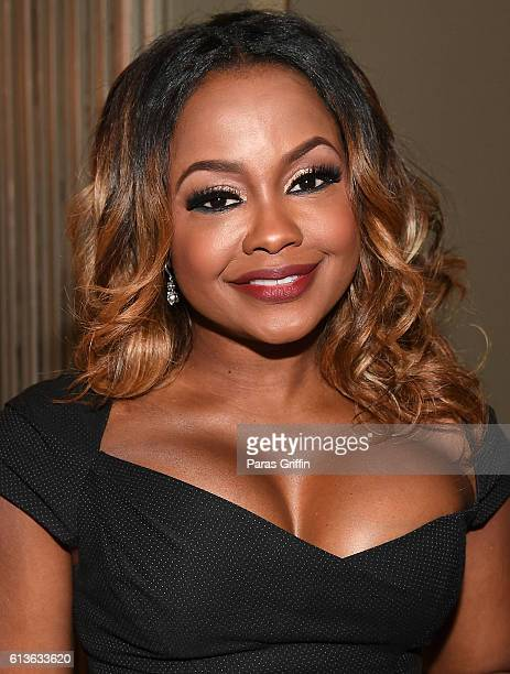 Television personality Phaedra Parks attends LOVING VIP Screening Private Reception hosted by Ruth Negga at Davio's at on October 9 2016 in Atlanta...