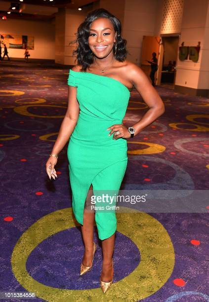 Television personality Quad Webb Lunceford attends 2018 Black Women's Expo at Georgia International Convention Center on August 11, 2018 in College...