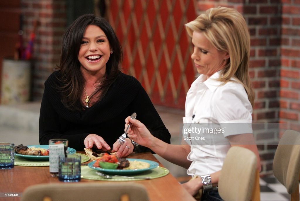 Rachael Ray Welcomes Campus Lady Cheryl Hines To Her Show : News Photo