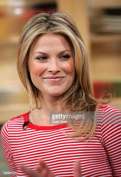 Television personality Rachael Ray meets with actress Ali Larter on the 'Rachael Ray' show on January 22 2007 in New York City