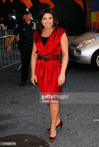 Television personality Rachael Ray visits the ''Late Show with David Letterman'' at the Ed Sullivan Theater on August 27 2009 in New York City