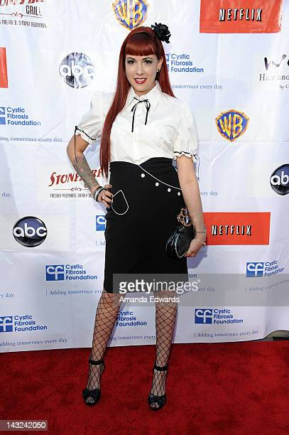 Television personality Rachel Federoff arrives at the Band From TV's 2nd Annual Block Party On Wisteria Lane at Universal Studios Backlot on April 21...