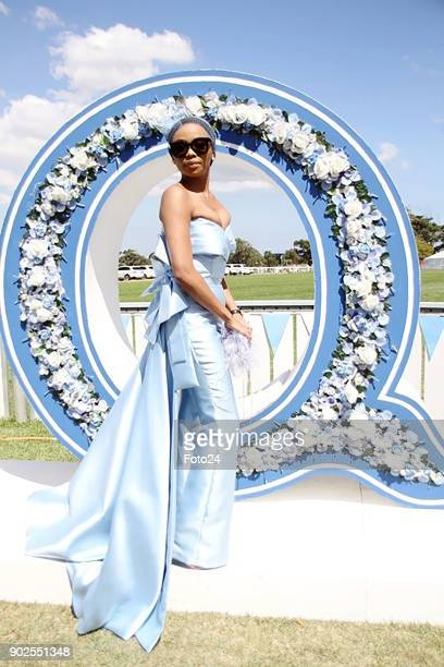 Television personality radio host and businesswoman Bonang Matheba during the 157th LOrmarins Queens Plate Festival on January 06 2018 in Cape Town...