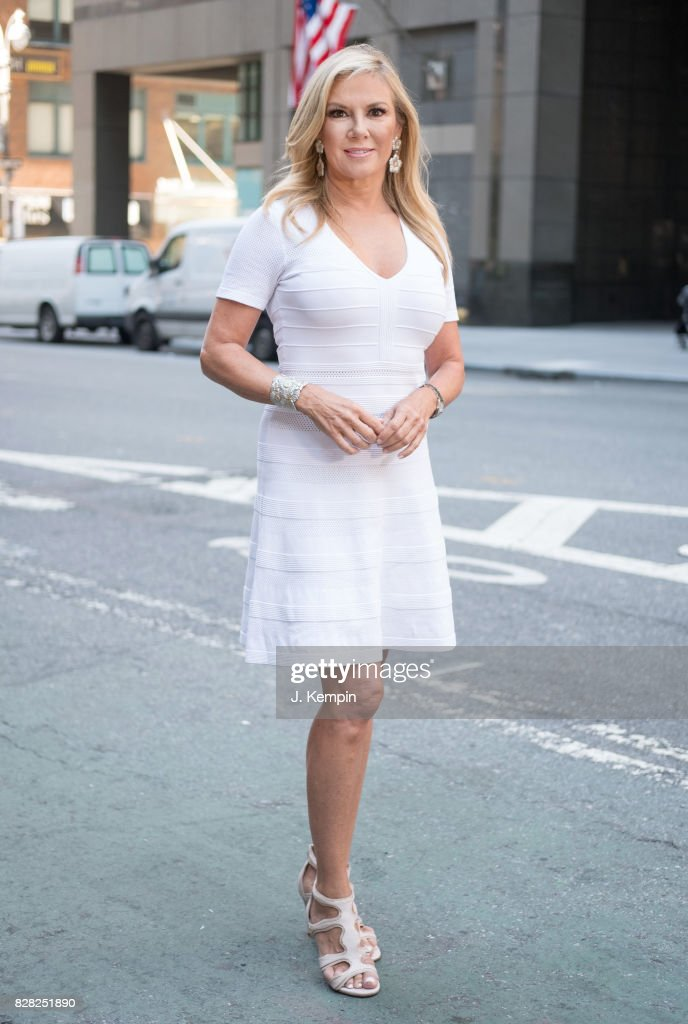 Television personality Ramona Singer visits Extra on August 9, 2017 in New York City.