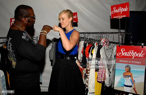 Television personality Randy Jackson and Natasha Bedingfield attend the Mattel Celebrity Retreat produced by Backstage Creations at Teen Choice 2008...