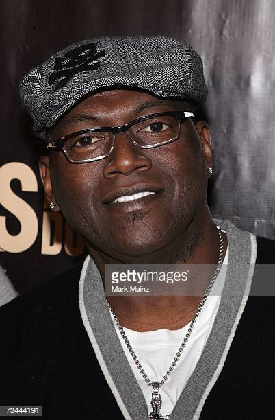 Television personality Randy Jackson attends the launch party for season three of The Girls Next Door at the Playboy Mansion February 27 2007 in Bel...