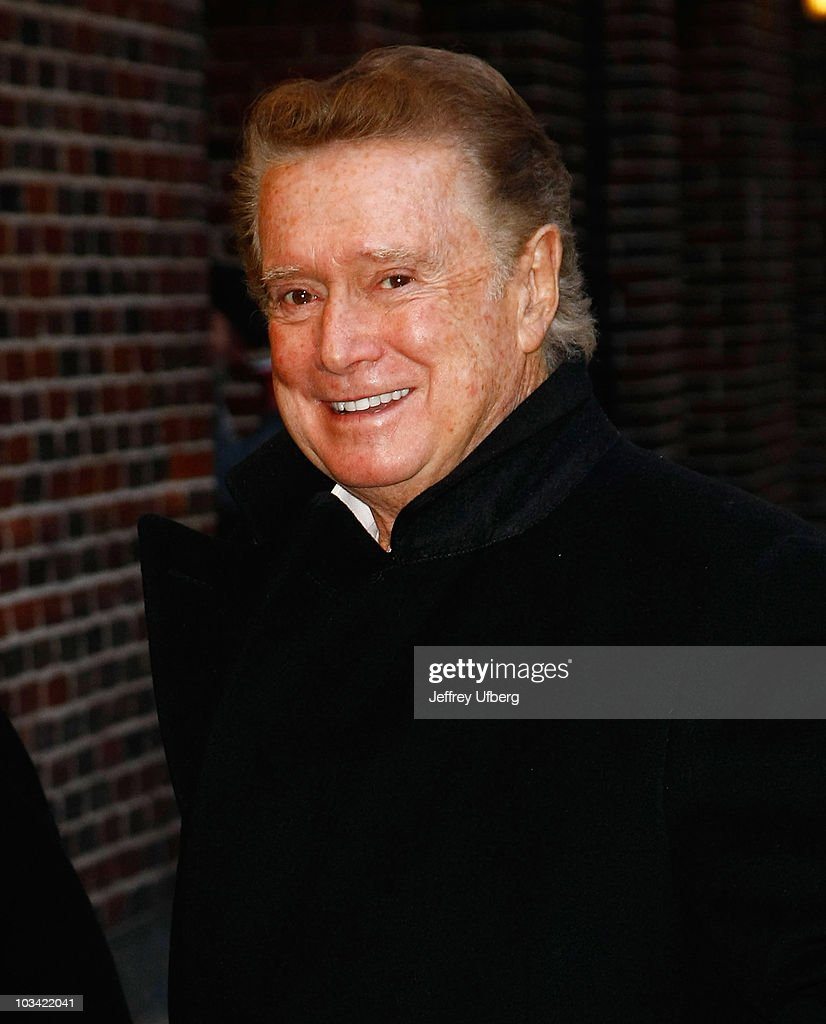 Television personality Regis Philbin visits 'Late Show With David Letterman' at the Ed Sullivan Theater on February 11, 2010 in New York City.