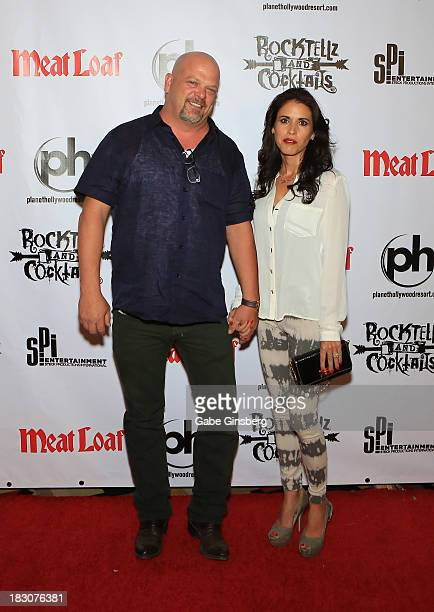 Television personality Rick Harrison and his wife Deanna Burditt arrive at the show RockTellz CockTails presents Meat Loaf at Planet Hollywood Resort...