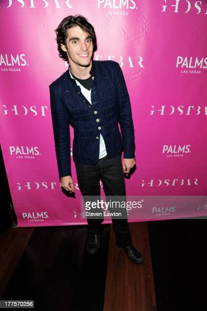 Television personality RJ Mitte arrives at Ghostbar at the Palms Casino Resort to celebrate his 21st birthday on August 23, 2013 in Las Vegas, Nevada.