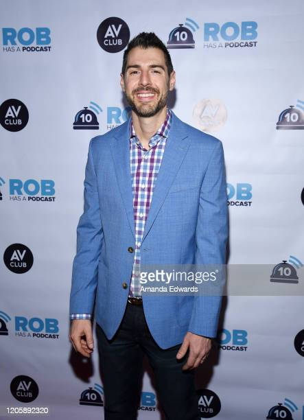 Television personality Rob Cesternino attends the Rob Has A Podcast's Viewing Party of CBS' Survivor 40 Winners At War at Busby's East on February 12...