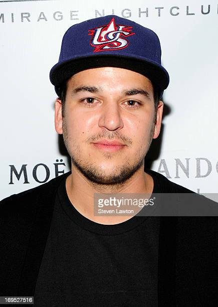 Television personality Rob Kardashian arrives at 1 OAK Nightclub at The Mirage Hotel Casino for a Memorial Day weekend celebration on May 25 2013 in...