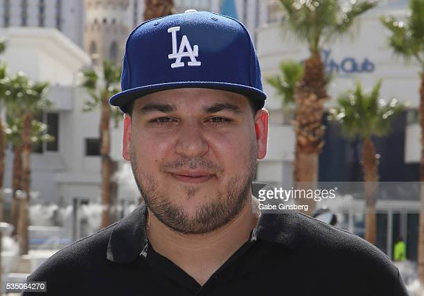 Television personality Rob Kardashian attends the Sky Beach Club at the Tropicana Las Vegas on May 28 2016 in Las Vegas Nevada
