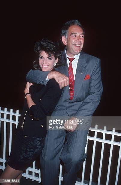 Television Personality Robin Leach and actress Joan Severance attend B'nai B'rith International Awards Dinner on June 24 1986 at the Waldorf Astoria...