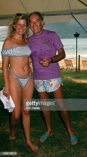 Television Personality Robin Leach and wife Judith Ledford attend Kauai Celebrity Sports Invitational on October 6 1988 at the Kauai Lagoon Resort in...