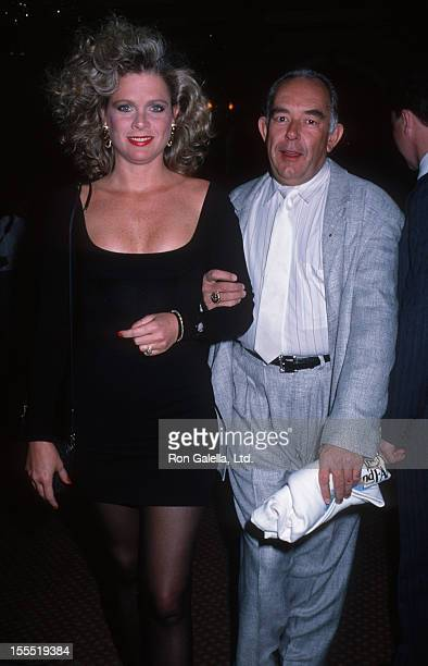 Television Personality Robin Leach and wife Judith Ledford attend Banff Celebrity Sports Invitational on December 9 1988 at Banff Alberta Canada