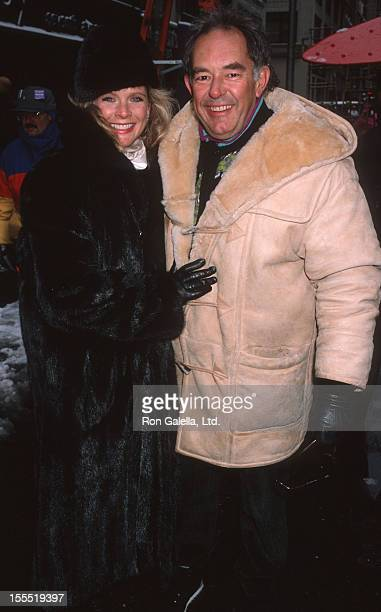 Television Personality Robin Leach and wife Judith Ledford attend Thanksgiving Day Parade on November 23 1989 in New York City